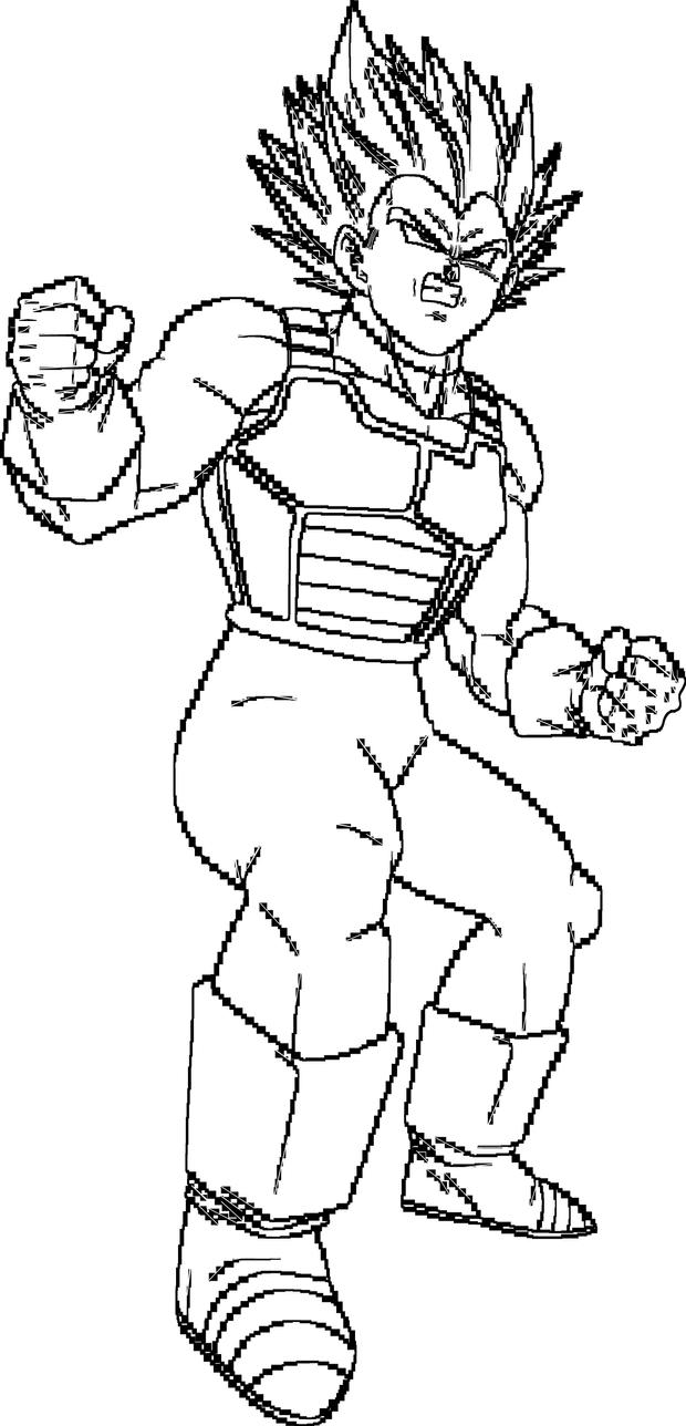 Super Vegeta Blue Lineart By Brusselthesaiyan On Deviantart Dragon Ball Dbz Drawings Dragon Ball Z