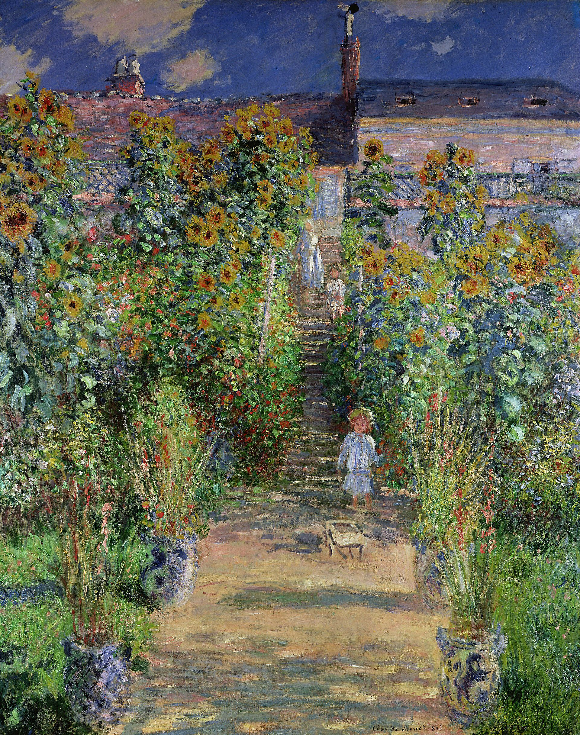 How many times have I stared into that child's face? Claude Monet - Monet's  garden at Vétheuil (1880) Public… | Claude monet art, Monet art, Claude  monet paintings
