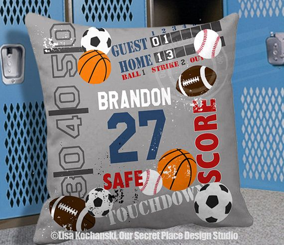 Personalized Sports Pillow Personalized Kids Pillows For Kids