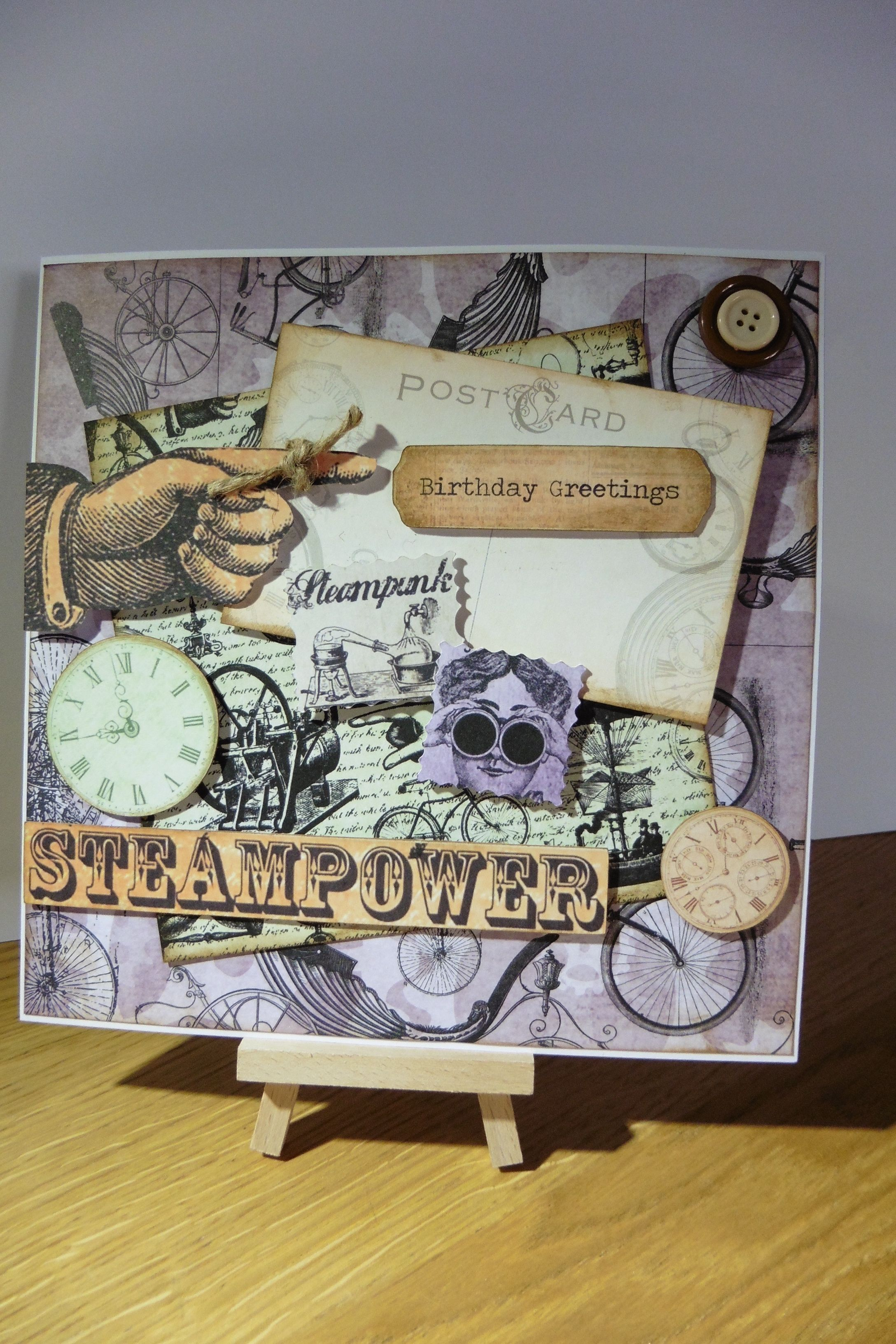 Steampunk Inspired Card My Handcrafted Greetings Cards Pinterest