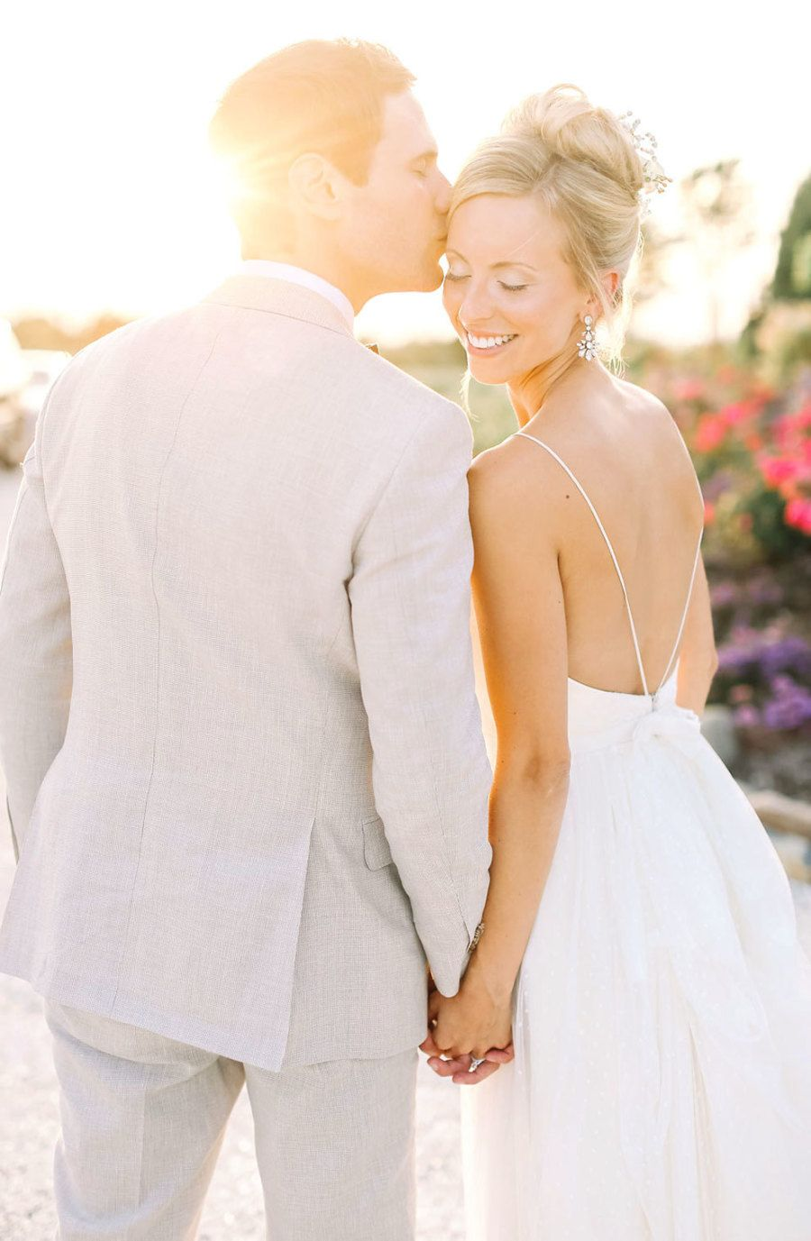 Photography : Kay English Read More on SMP: http://www.stylemepretty.com/new-jersey-weddings/2016/01/11/glamorous-private-estate-beach-wedding/