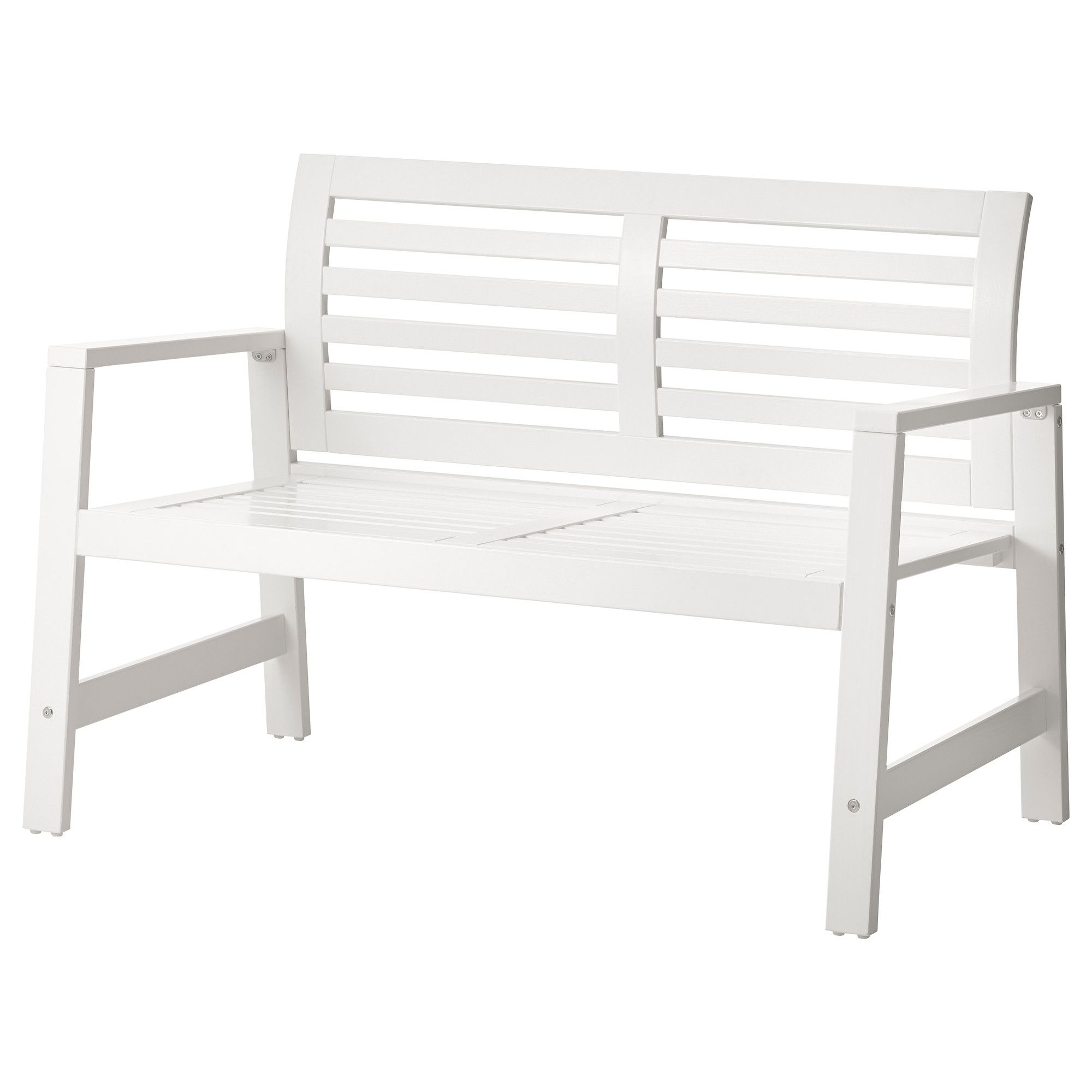 Wooden Bench Ikea Part - 15: ÄPPLARÖ Bench - White - IKEA. For The Deck.