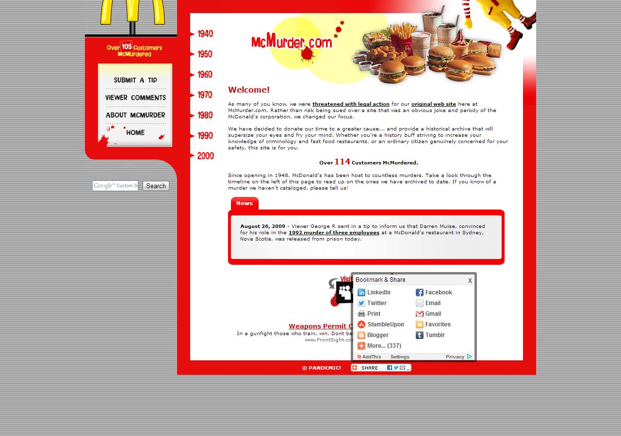 McMurder  http://www.mcmurder.com/mcarchive/index.html