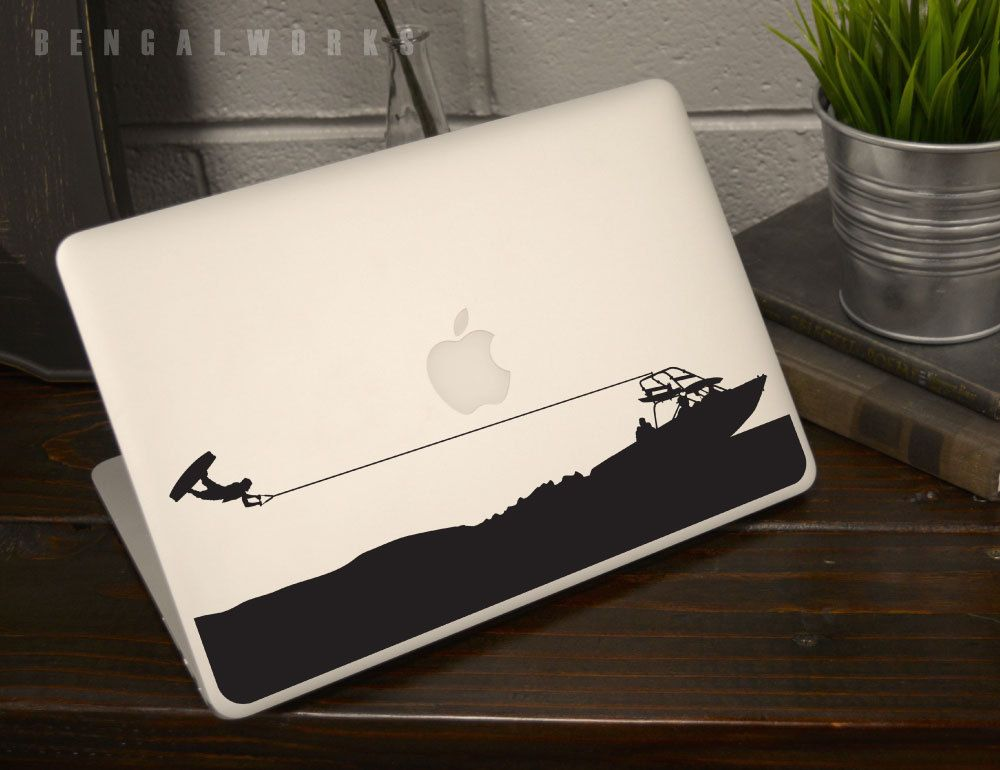Wakeboarding Superman Macbook Decal Macbook Aufkleber