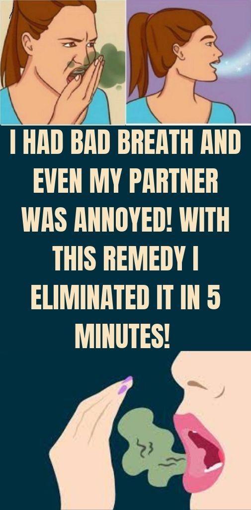Ich hatte Mundgeruch und sogar mein Partner war verärgert