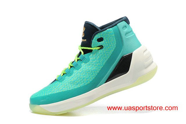 brand new f3ed5 2fad9 Under Armour UA Curry 3 Mint Green Special Men's Basketball ...