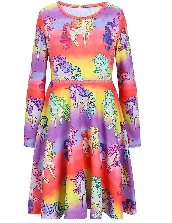 cef2f6a8f Jxstar Girls Unicorn Dress,Maxi Dress,Hoodie,Mermaid Dress,Legging ...