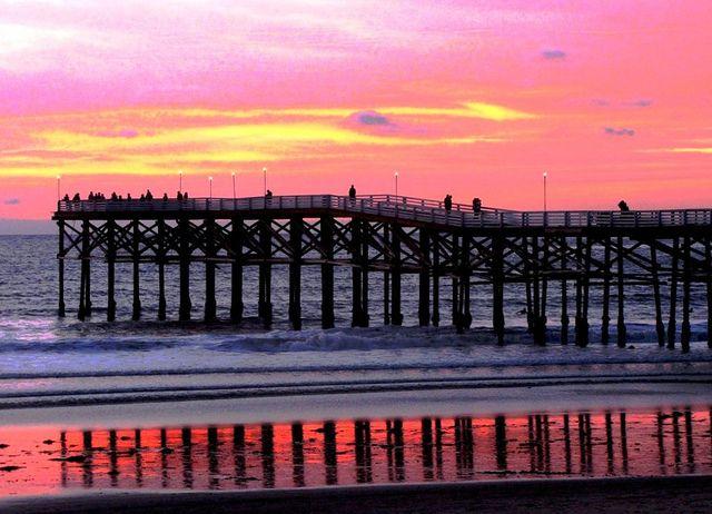 Pink Pier Sky, Mission Beach, San Diego, California by moonjazz, via Flickr