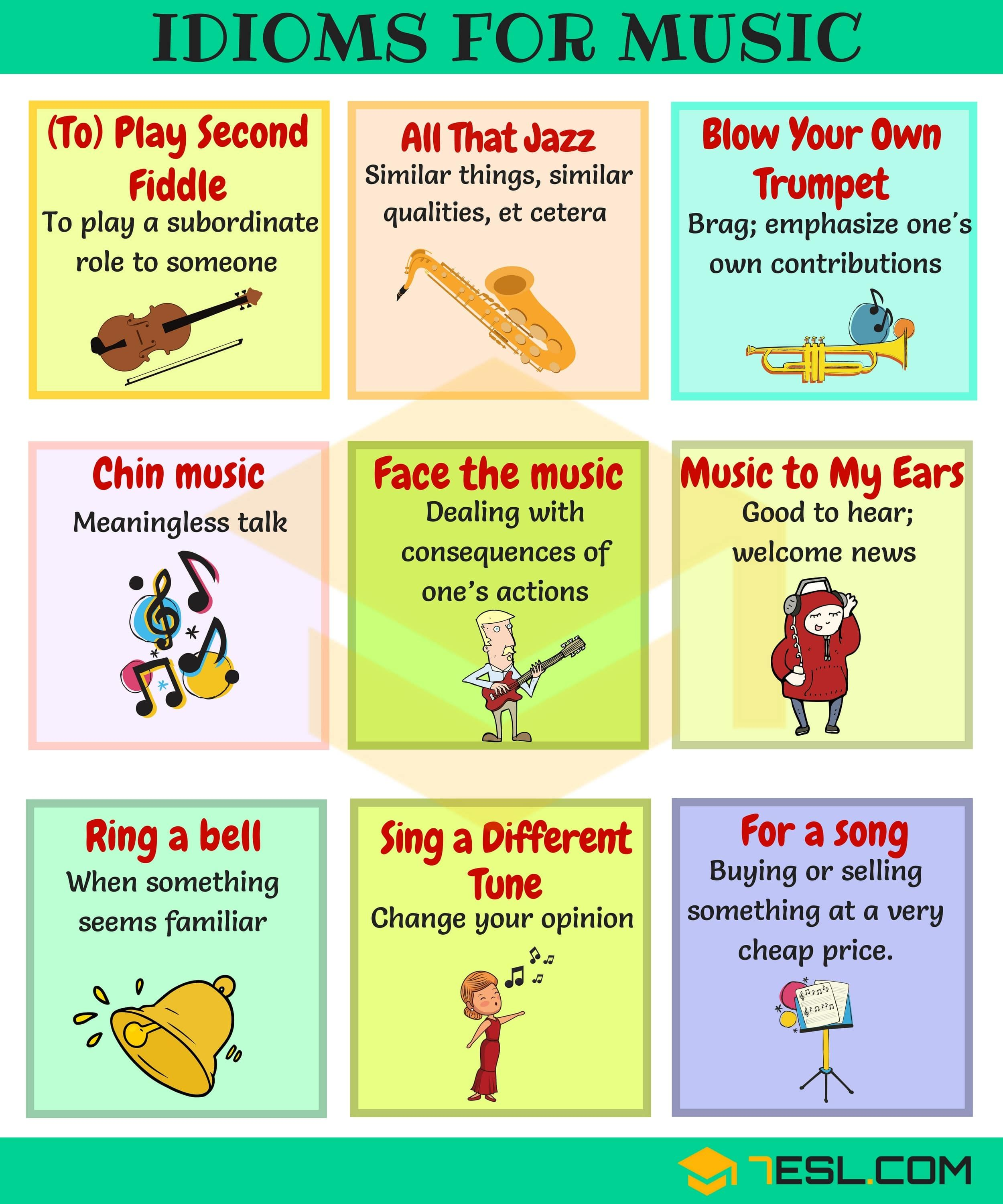 30 Useful Music Idioms Sayings And Phrases In English