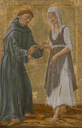 Der hl.Franziskus vermählt sich der Armut von Il