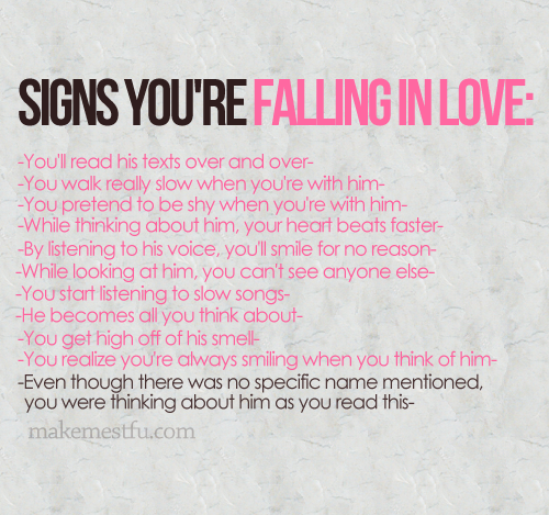 Signs Youu0027re Falling In Love