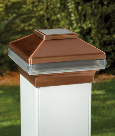 Probably Not Copper But I Like The Idea Of Solar Post Caps
