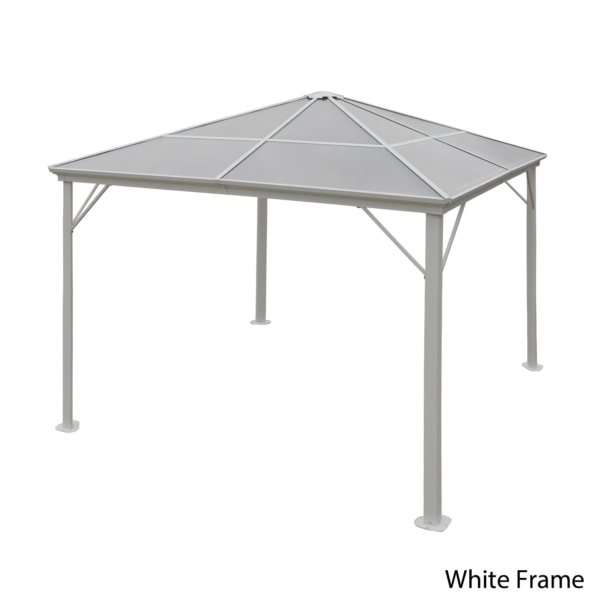 Bailey Outdoor 10-foot Aluminum Gazebo by Christopher Knight Home ...