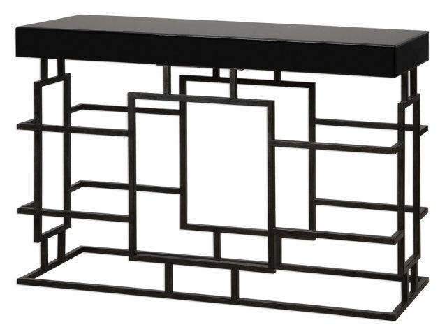 GEOMETRIC BASE CONSOLE WITH :: CONSOLES, CABINETS & DRAWER CHESTS :: Furniture for every room in your home - and patio! :: Union