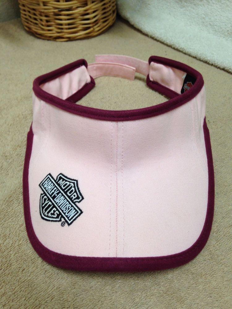 Harley Davidson Womens Pink Golf Sun Visor Hat Adjustable VGUC ... dc652aade59