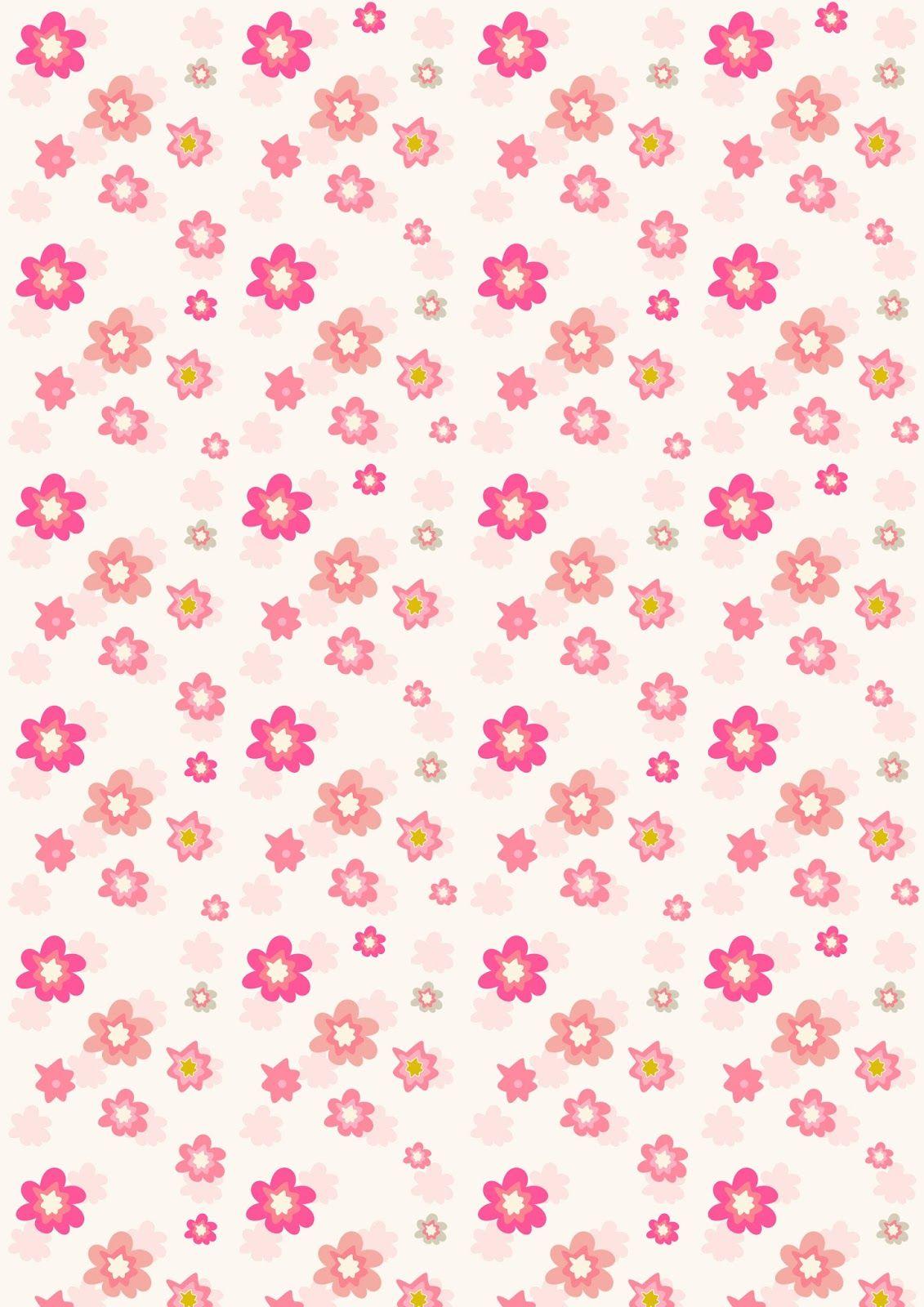 Free Digital Floral Scrapbooking Paper In Pink Ausdruckbares