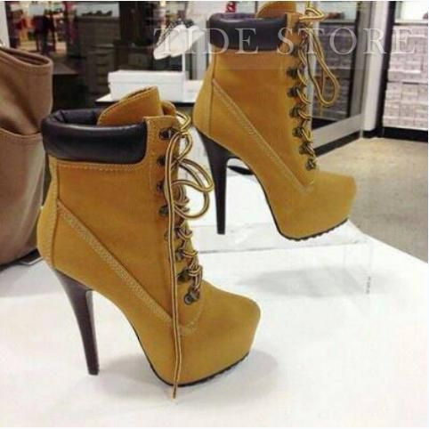 timberland spike heels play
