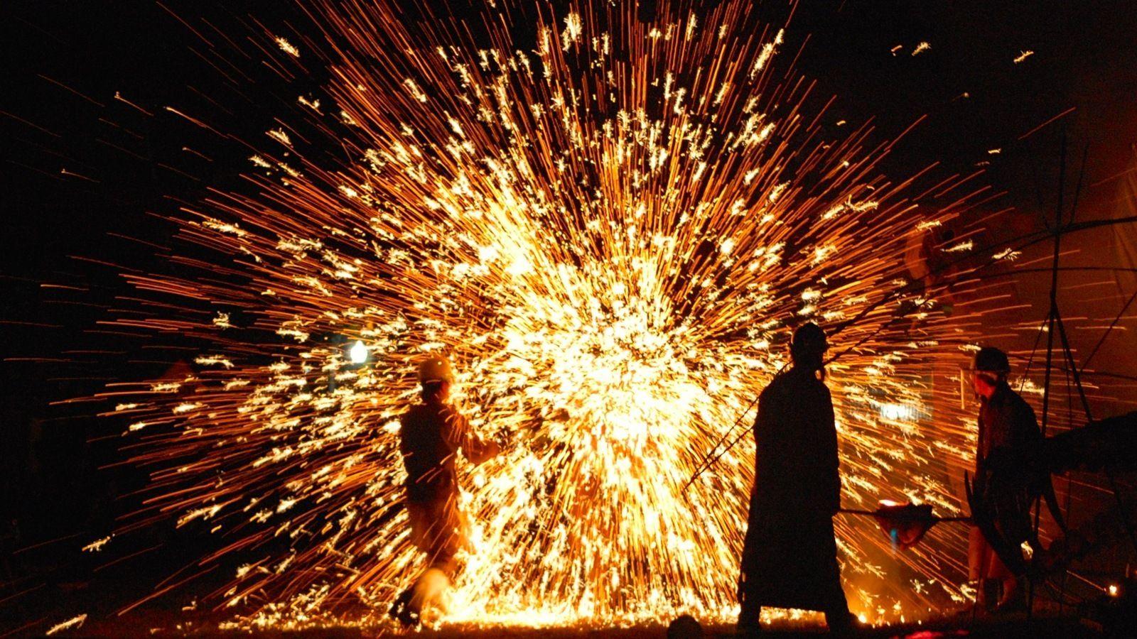 Da Shuhua 2019 in Nuanquan, China Celebration around the