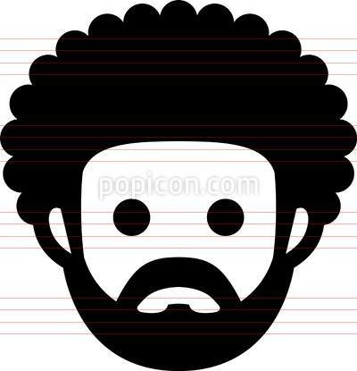 Man Wearing Turban Icon Beard Illustration Afro Hair Illustration People Icon