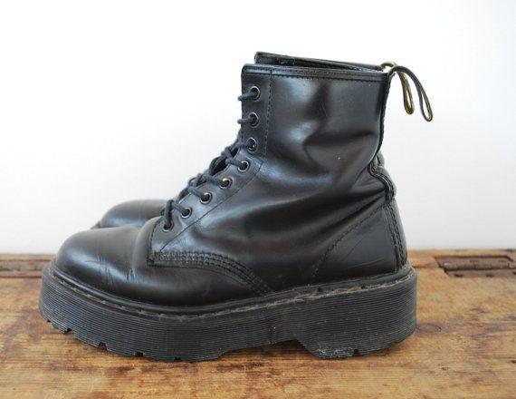 90s Black Dr Martens Super Chunky Platform by