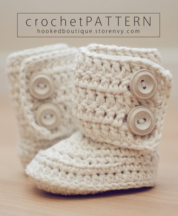 The Classic Boot CROCHET PATTERN $5.95 #Booties #Crochet #Baby ...