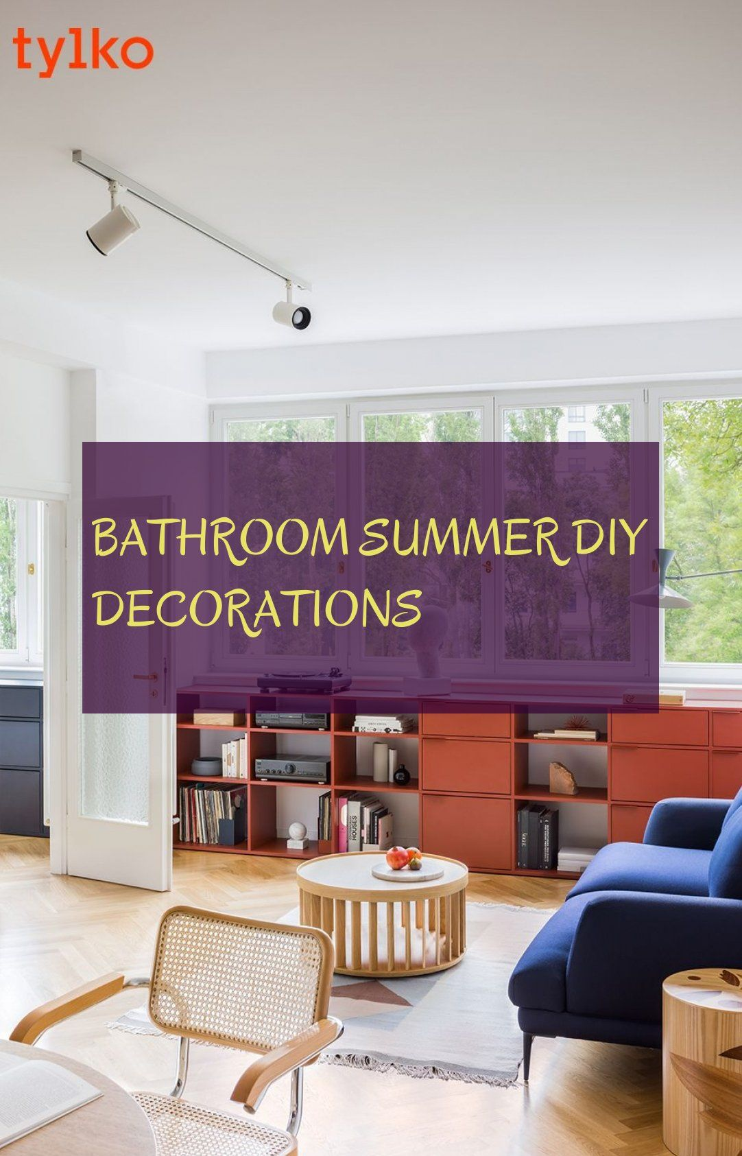 Bathroom summer diy decorations