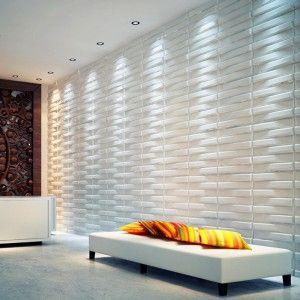 Art3D 3D Plantfiber Wall Tile Pack of 18 Tiles Cover 41 sq.ft Puzzle Hexagon Design in Primed White