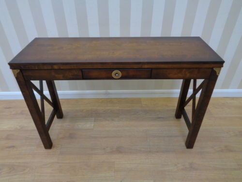 laura ashley balmoral extending console table in dark chestnut