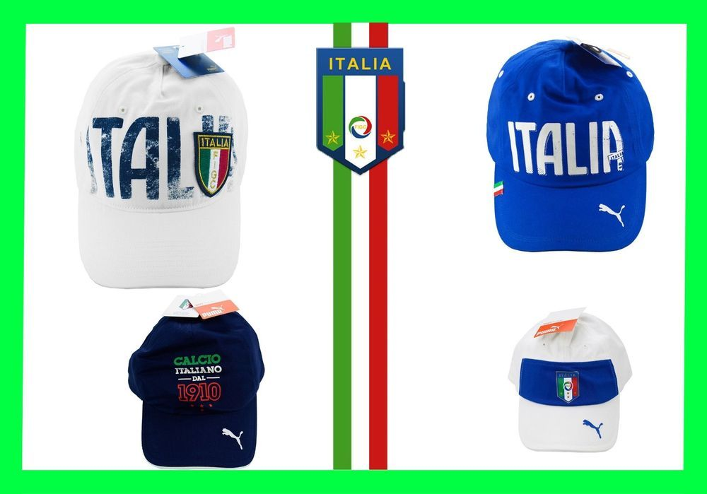 219fe36fb61 Italy Calcio National White Blue Sport Cap Baseball Hat Football Hat Soccer  Men  Puma