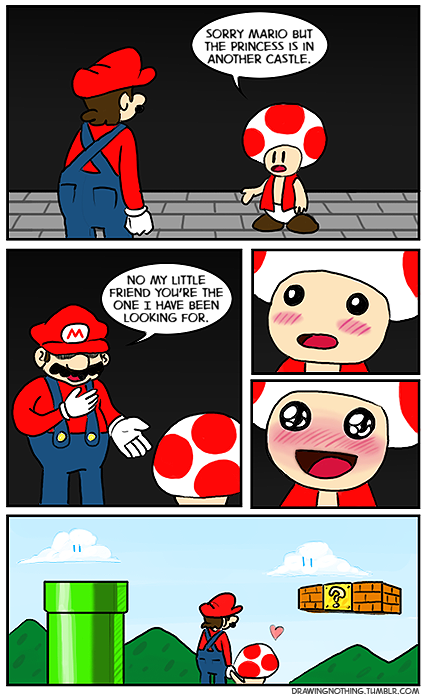 Toad is Mario's OTP | Video Games and Stuff | Mario memes
