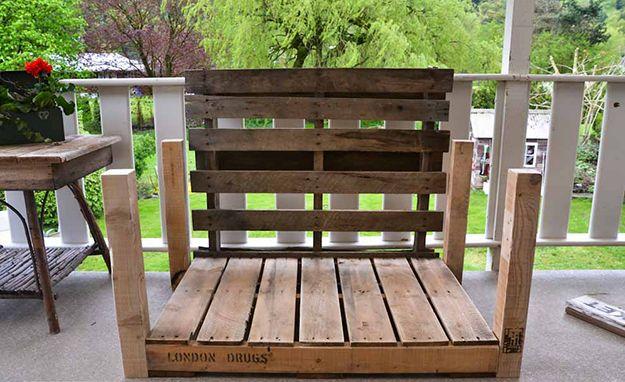 Pallet Furniture - plan pour fabriquer un banc de jardin