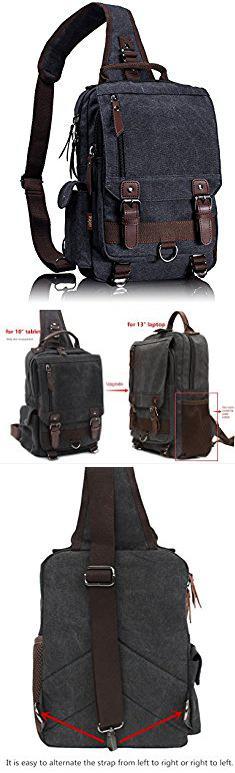 240a7c8669 Leaper Canvas Message Sling Bag Outdoor Cross Body Bag Messenger Shoulder  Bag (Large