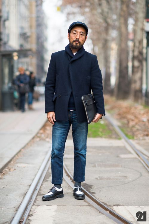Navy Blue jacket     Style For Menwww.yourstyle-men.tumblr.com