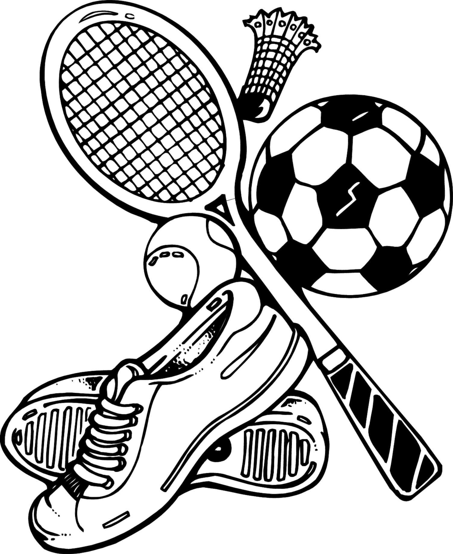 First Pages Tools And Sports Coloring Page In 2020 Sports