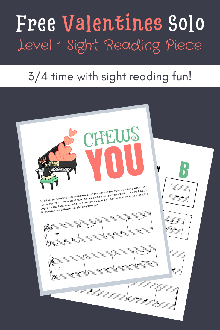 A Level 1 Valentine's DayThemed Sight Reading Activity in