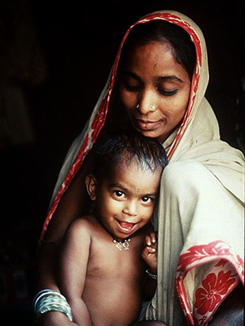 Indian mother and child by nalindes, via Flickr Indian Mothers