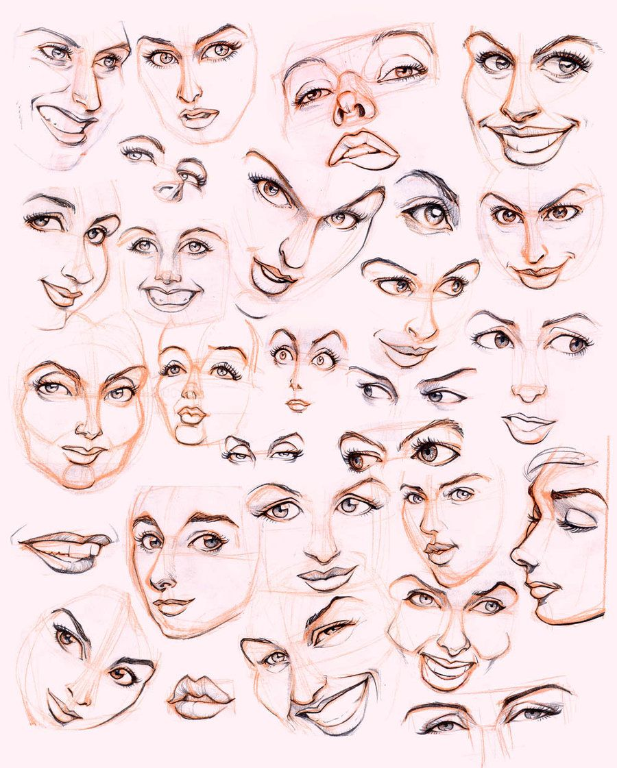Women S Faces By Jonigodoy On Deviantart Face Drawing Reference Female Face Drawing Drawing Expressions