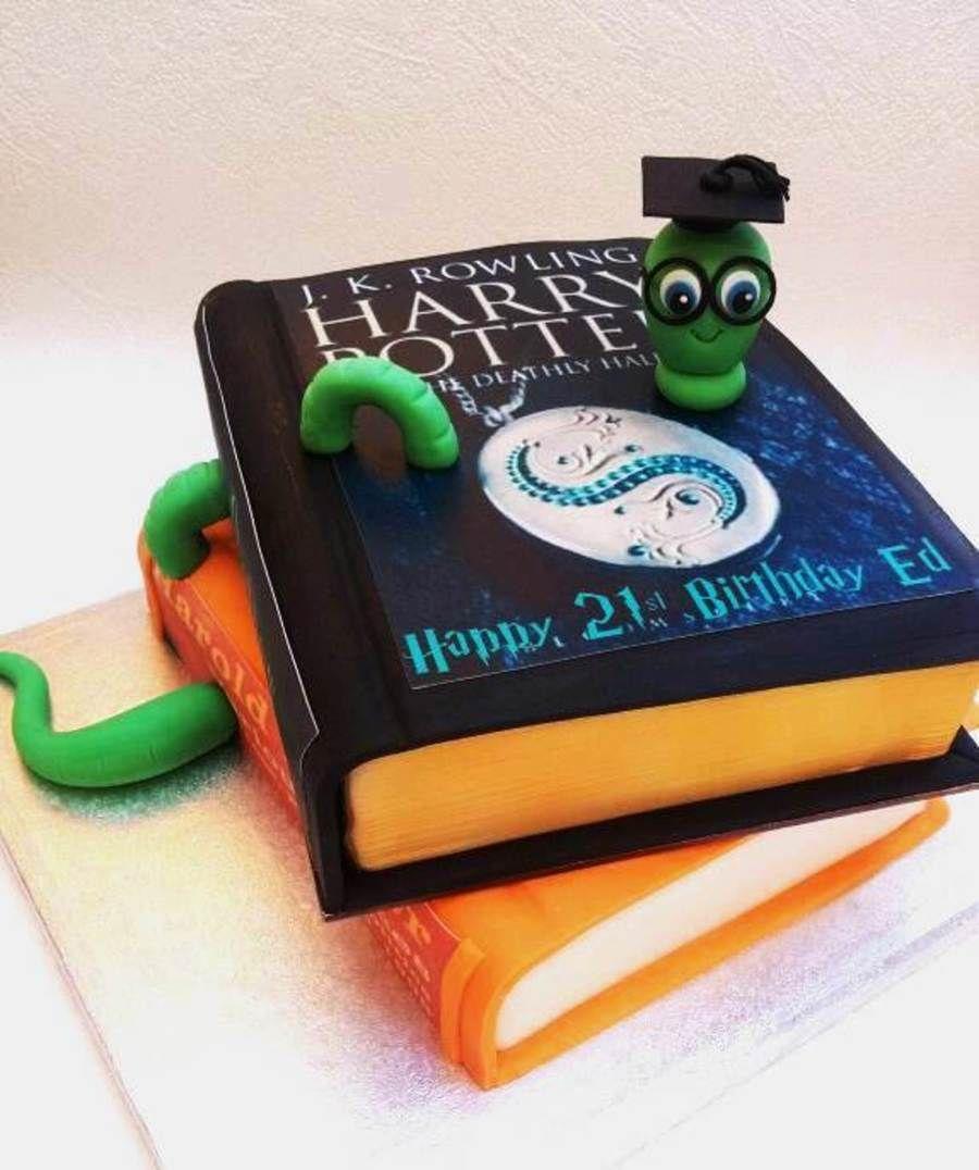 Image Result For Bookworm Cake Book Cakes Vanilla Sponge Caterpillar Cake