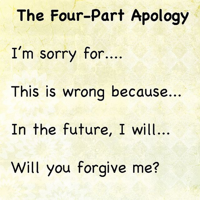 4steps Student learning, Students and Learning - apology letter to family