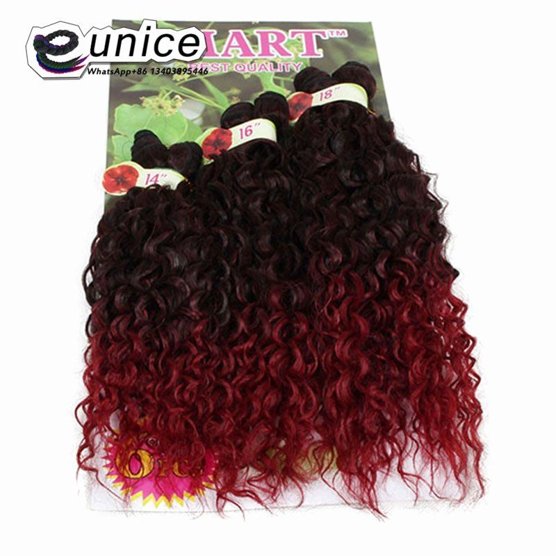 Red Sew In Weave Fresh 8 14inch Jerry Curl Synthetic Hair Weave Sew In Hair Extensions