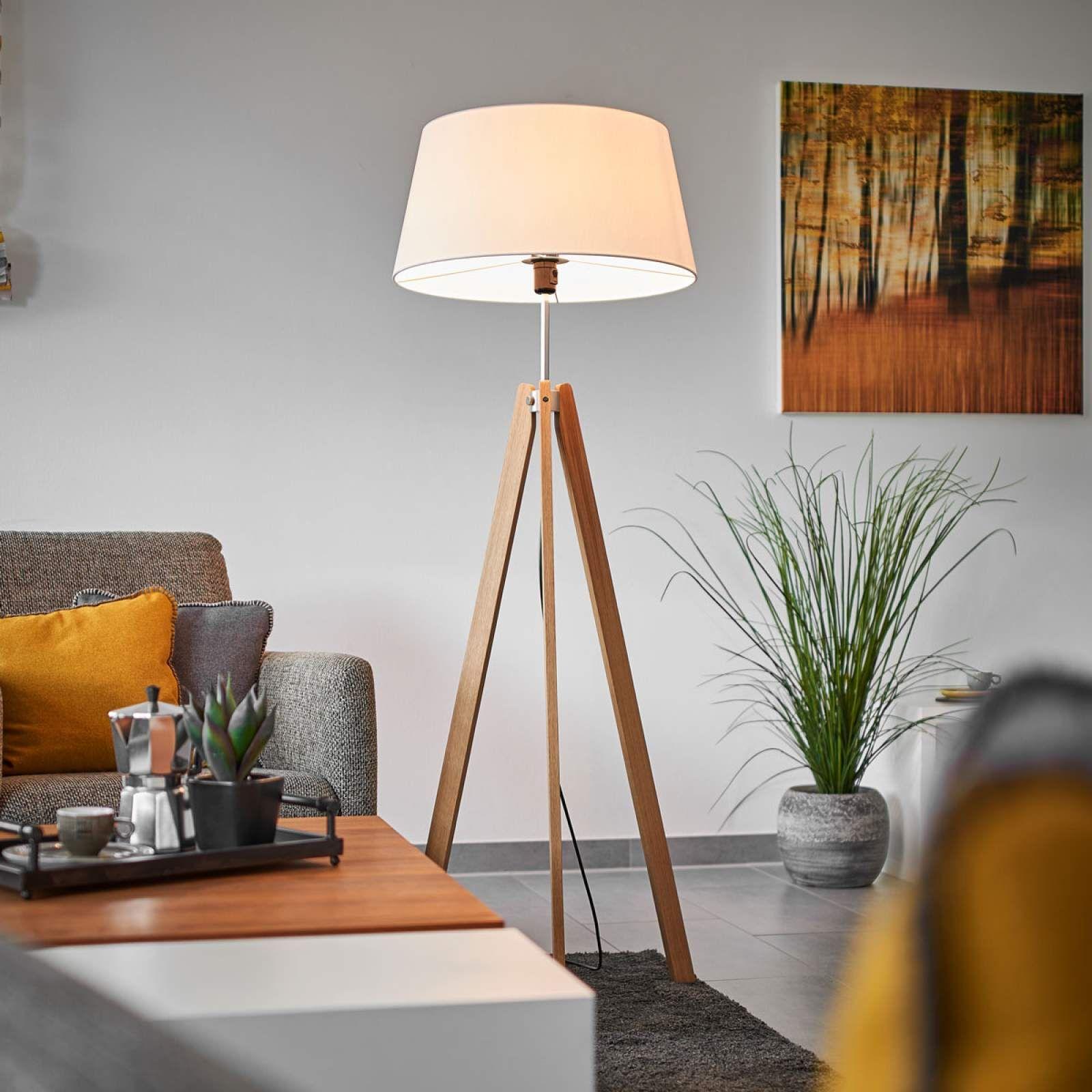 Designer Stehlampe Von Lucande Braun Stehlampe Bodenlampe Und