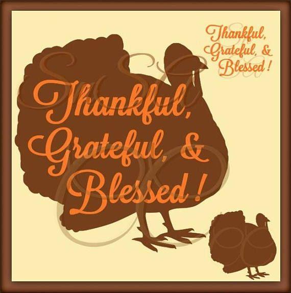 Download Turkey SVG Thanksgiving Thankful Grateful Blessed Harvest ...
