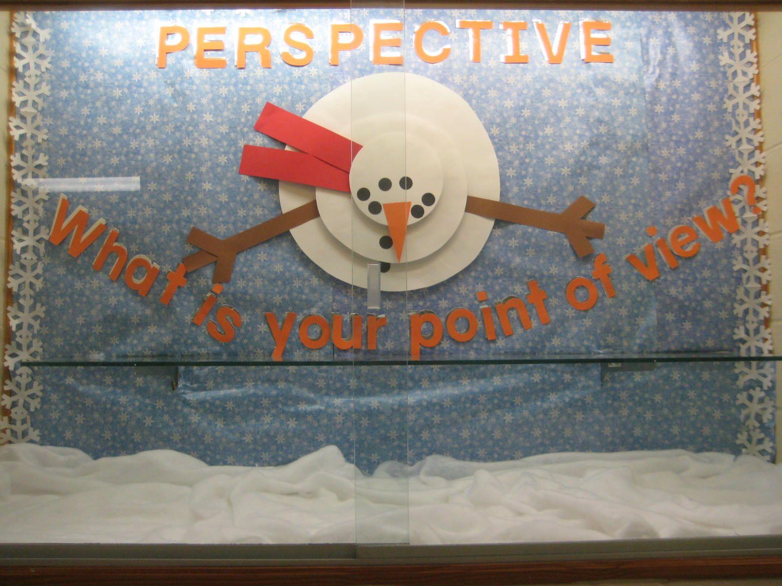 Winter Bulletin Board Snowman Seen From Above Saw Idea On