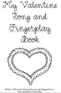 Valentine songs and fingerplays (pdf) from My Delicious