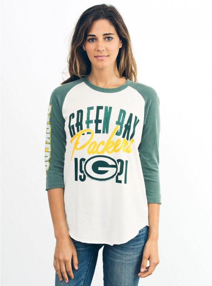 NFL Green Bay Packers Raglan-SUGAR/HUNTER-XS