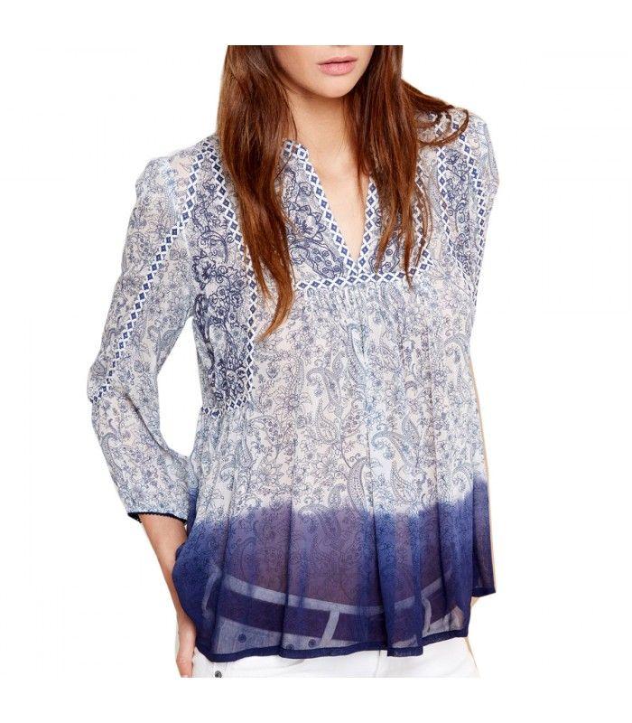 7b581c040 Blusa MARILYIN de manga larga y cuello redondo para chica Pepe Jeans ...