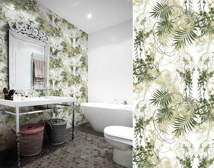 Papier peint sara palmer tres tintas wallpaper pinterest - Papier vinyl salle de bain ...