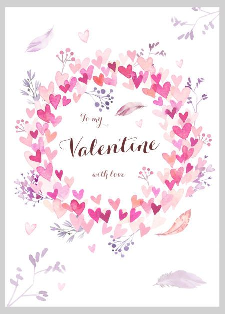 Victoria Nelson Watercolour Hearts Valentines Copy Holiday