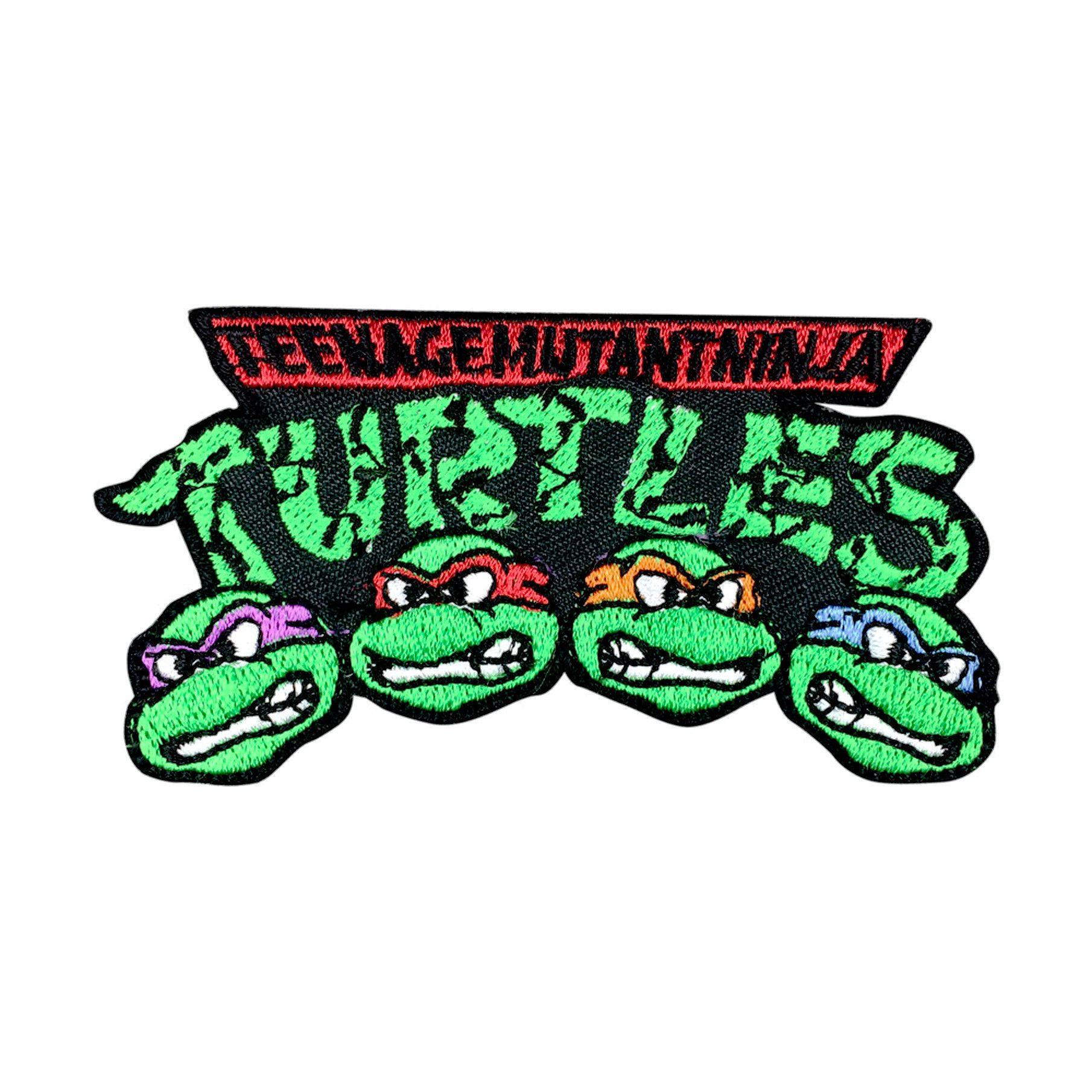 Set of 4 TMNT Embroidered Iron//Sew on Patch Teenage Mutant Ninja Turtles Badges