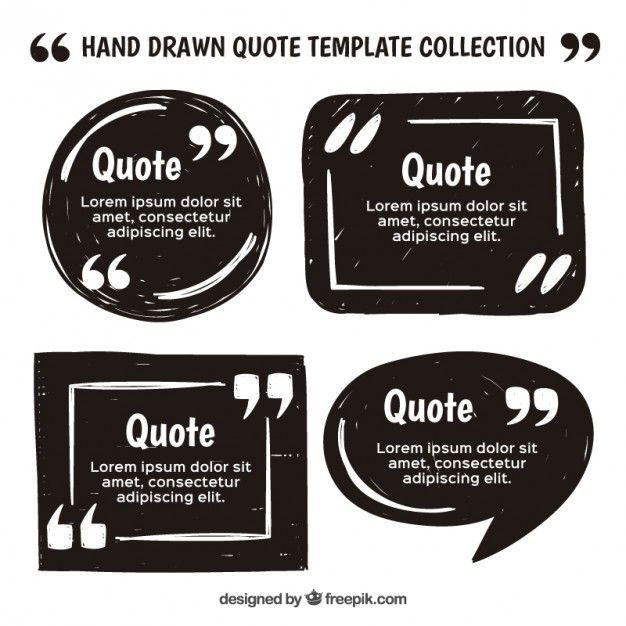 Vintage quote template set Free Vector Shapes, quote Pinterest - how to create a quotation template